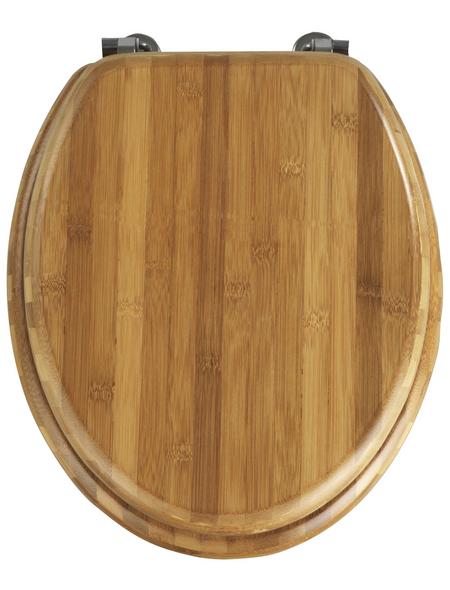 WENKO WC-Sitz »Bambus«, Bambus, oval