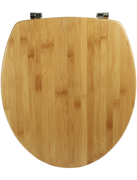 SANITOP-WINGENROTH WC-Sitz »Bambus Natur«, Echtholz, oval