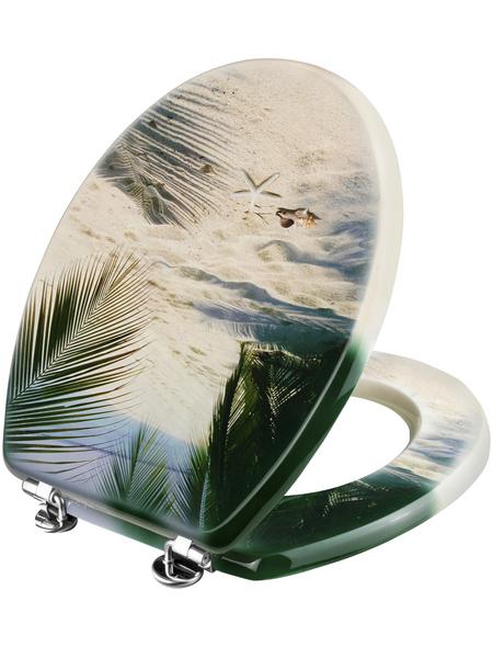 WELLWATER WC-Sitz »BEACH«, MDF, D-Form