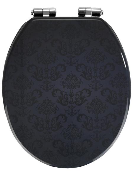 WENKO WC-Sitz »Bellevue«, MDF, oval, mit Softclose-Funktion