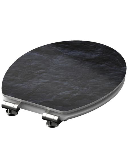 SCHÜTTE WC-Sitz »Black Stone« mit Holzkern,  oval mit Softclose-Funktion