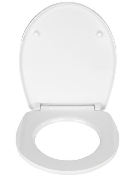 WENKO WC-Sitz »Bloom«, blumen|steine