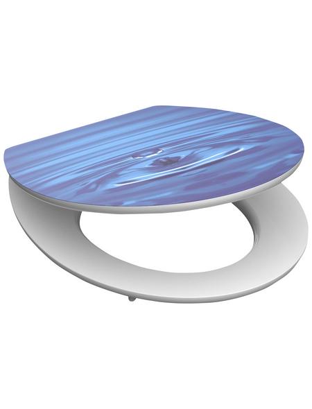 SCHÜTTE WC-Sitz »Blue Drop« mit Holzkern,  oval mit Softclose-Funktion