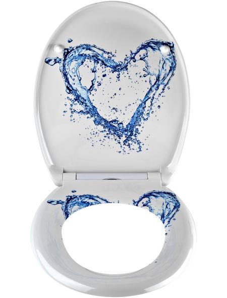 SCHÜTTE WC-Sitz »Blue Heart« aus Duroplast,  oval mit Softclose-Funktion