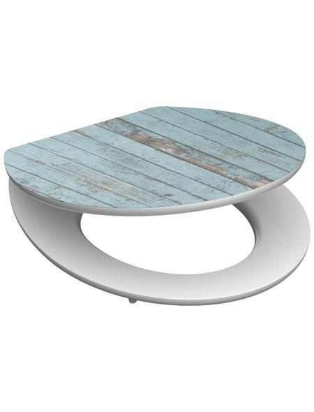 SCHÜTTE WC-Sitz »Blue Wood« Holzkern,  oval mit Softclose-Funktion