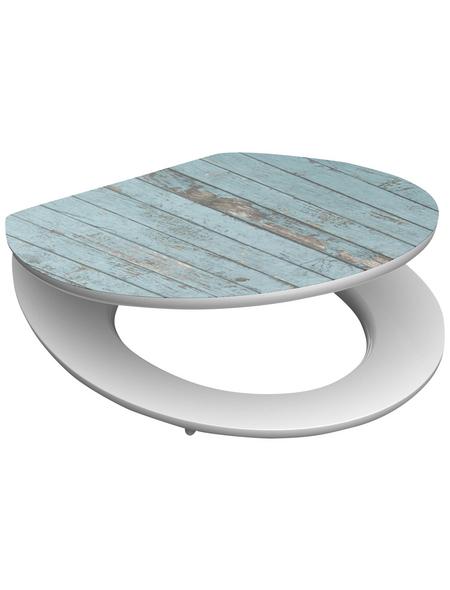 SCHÜTTE WC-Sitz »Blue Wood« mit Holzkern,  oval mit Softclose-Funktion