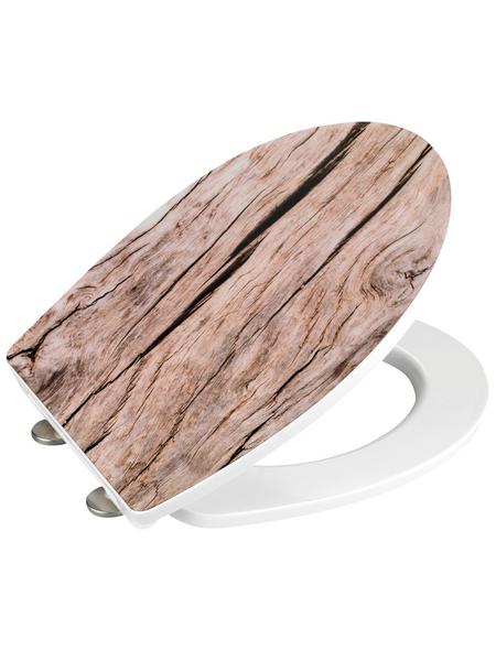 WENKO WC-Sitz »Bois« aus Duroplast,  oval mit Softclose-Funktion