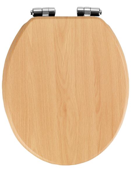 WENKO WC-Sitz »Buche Natur«, MDF, oval, mit Softclose-Funktion