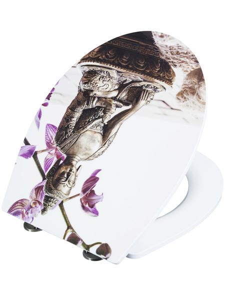 CORNAT WC-Sitz »BUDDHA«, Duroplast, oval mit Softclose-Funktion