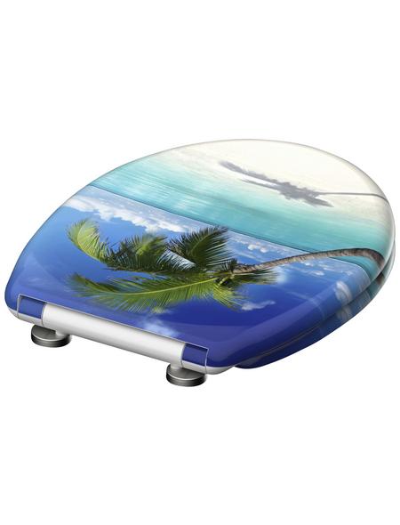 SCHÜTTE WC-Sitz »Carribean« aus Duroplast,  oval mit Softclose-Funktion