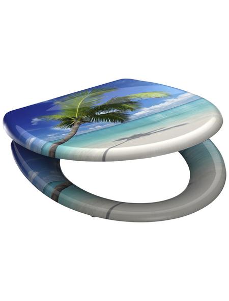 SCHÜTTE WC-Sitz »Carribean«, Duroplast, oval, mit Softclose-Funktion