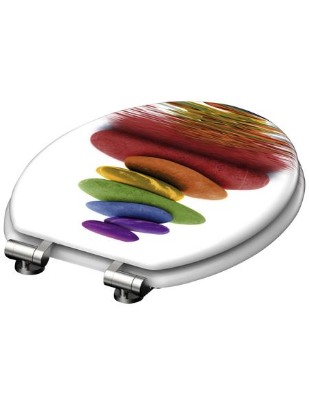 SCHÜTTE WC-Sitz »Colorful«, Mitteldichte Faserplatte (MDF),  weiss/bunt,  oval