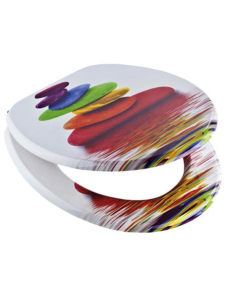 SCHÜTTE WC-Sitz »Colorful Stones« mit Holzkern,  oval