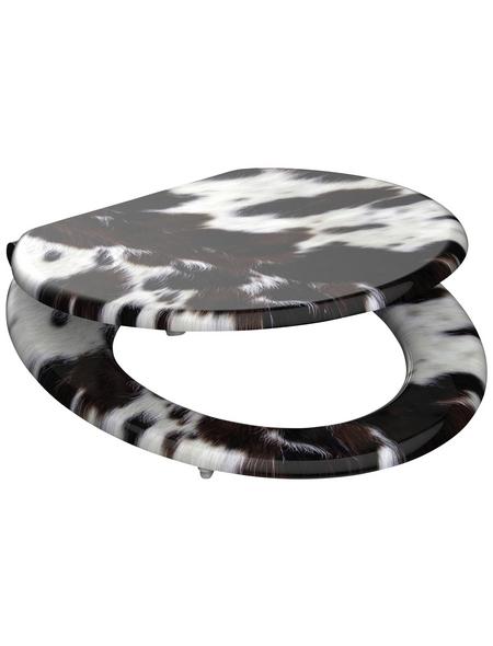 SCHÜTTE WC-Sitz »Cow skin« mit Holzkern,  oval