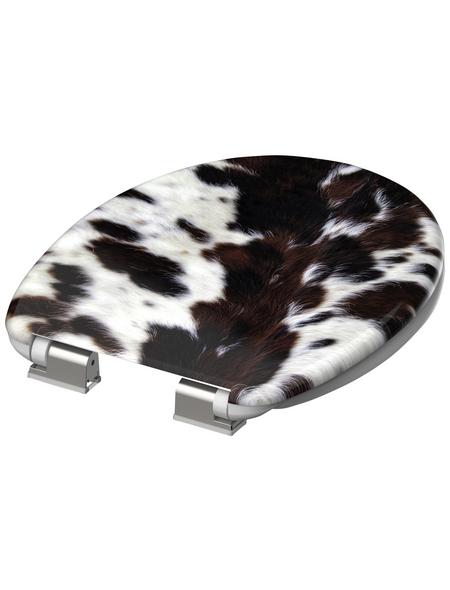 SCHÜTTE WC-Sitz »Cow Skin« mit Holzkern,  oval mit Softclose-Funktion