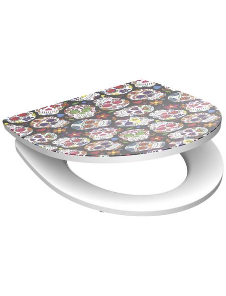 SCHÜTTE WC-Sitz »Crazy Skull« Duroplast,  oval mit Softclose-Funktion