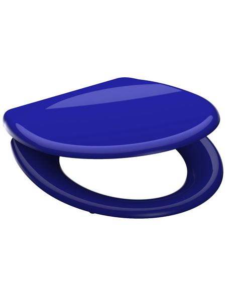 SCHÜTTE WC-Sitz »Dark Blue« aus Duroplast,  oval mit Softclose-Funktion