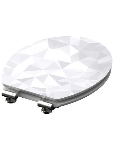 SCHÜTTE WC-Sitz »Diamond« mit Holzkern,  oval mit Softclose-Funktion