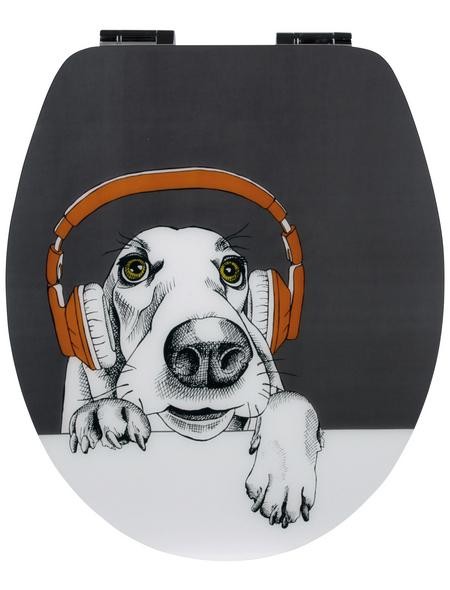 SANITOP-WINGENROTH WC-Sitz »DJ Dog«, mit Holzkern, oval, mit Softclose-Funktion