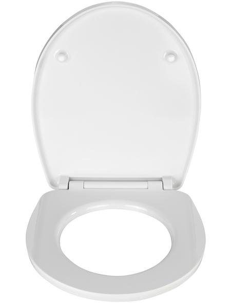 WENKO WC-Sitz »Düne« aus Duroplast,  oval mit Softclose-Funktion