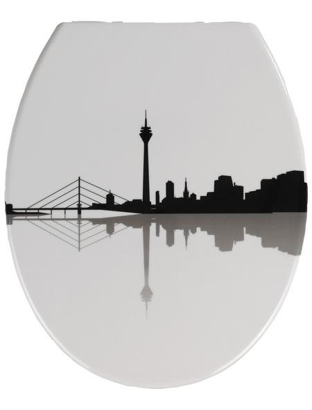 WENKO WC-Sitz »Düsseldorf«, Duroplast, oval, mit Softclose-Funktion