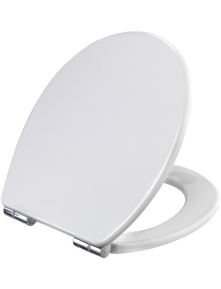 WELLWATER WC-Sitz Duroplast,  D-Form mit Softclose-Funktion