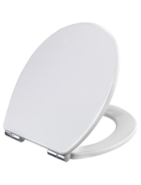 WC-Sitz Duroplast,  D-Form mit Softclose-Funktion