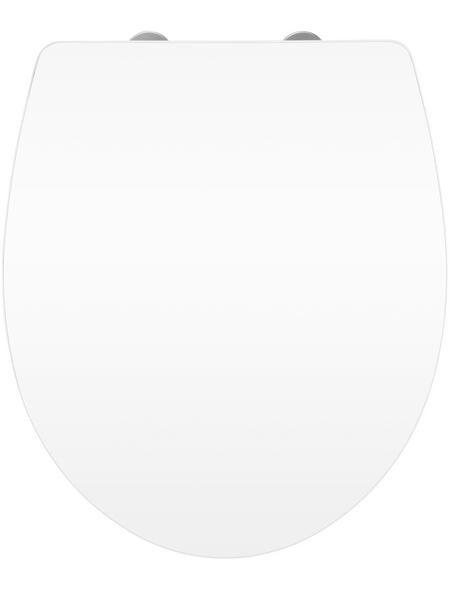 WENKO WC-Sitz, Duroplast, oval, mit Softclose-Funktion