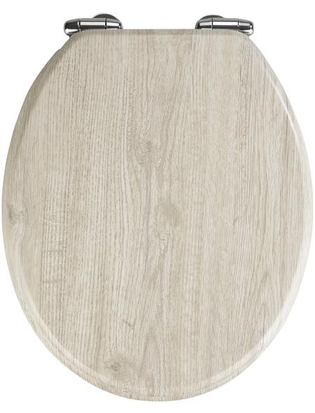 WENKO WC-Sitz »Eiche«, MDF, oval, mit Softclose-Funktion