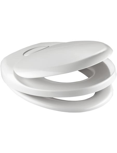 SCHÜTTE WC-Sitz »Family White« aus Duroplast,  oval mit Softclose-Funktion
