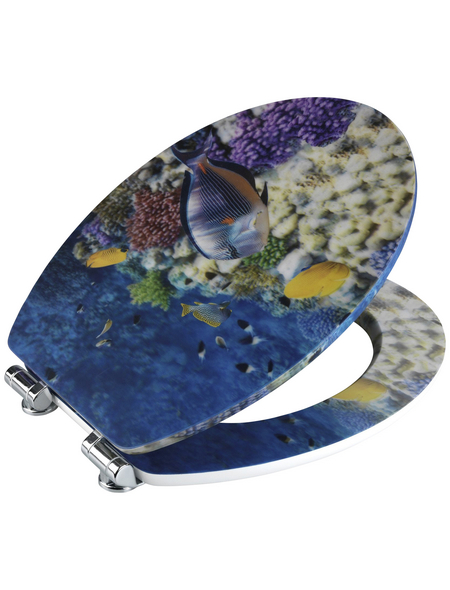 WENKO WC-Sitz »Fish« mit Holzkern,  oval mit Softclose-Funktion