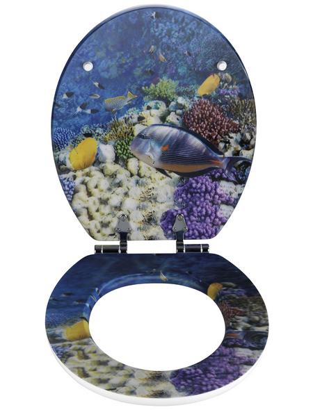 WENKO WC-Sitz »Fish«, Tiere
