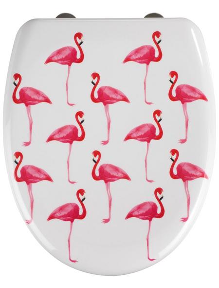 WENKO WC-Sitz »Flamingo«, Duroplast, oval, mit Softclose-Funktion