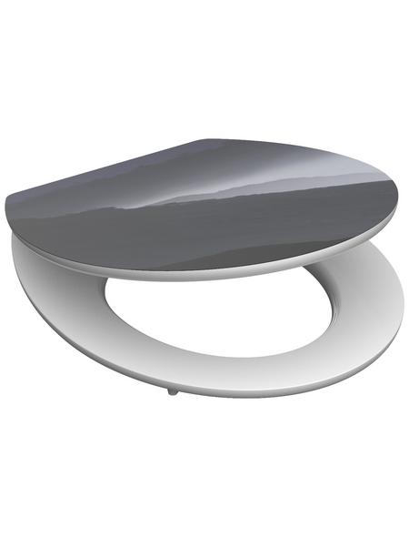 SCHÜTTE WC-Sitz »Foggy« mit Holzkern,  oval mit Softclose-Funktion
