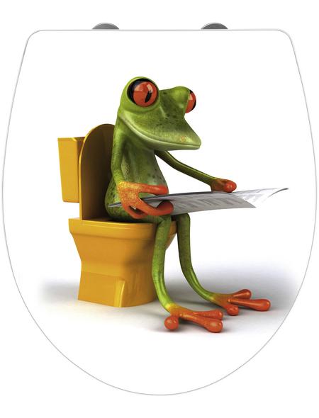 WENKO WC-Sitz »Frog News«, Duroplast, oval, mit Softclose-Funktion