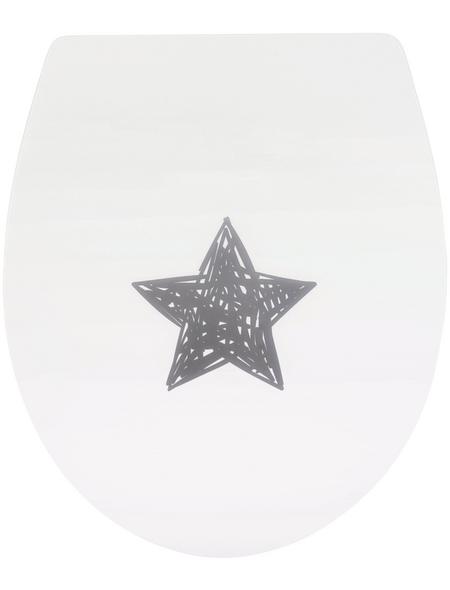 SANITOP-WINGENROTH WC-Sitz »Glücksstern High Gloss«, Duroplast, oval, mit Softclose-Funktion