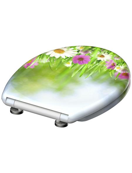 SCHÜTTE WC-Sitz »Grassland« aus Duroplast,  oval mit Softclose-Funktion