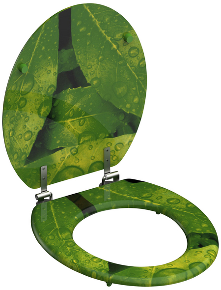 SCHÜTTE WC-Sitz »Green Leafs« mit Holzkern,  oval