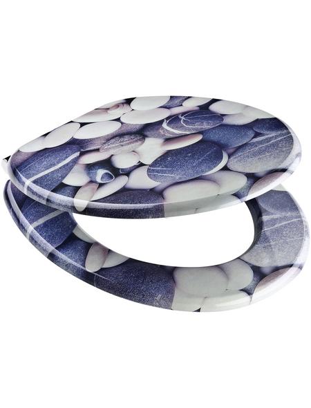 SCHÜTTE WC-Sitz »Grey Stones« mit Holzkern,  oval
