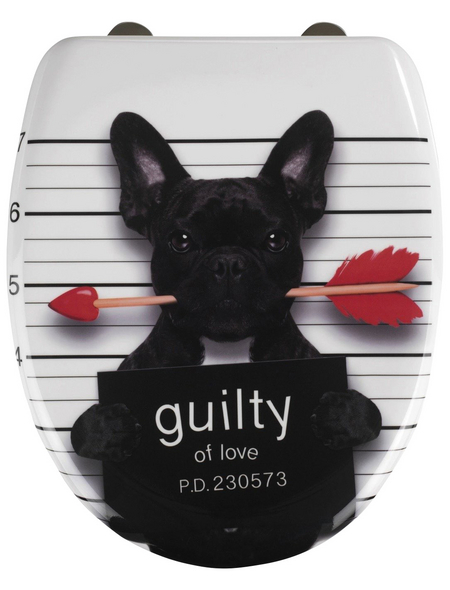 WENKO WC-Sitz »Guilty Dog« Duroplast,  oval mit Softclose-Funktion
