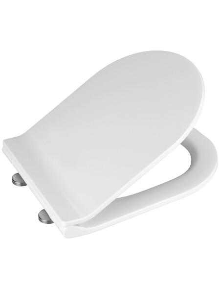 WENKO WC-Sitz »Habos« aus Thermoplast,  oval mit Softclose-Funktion