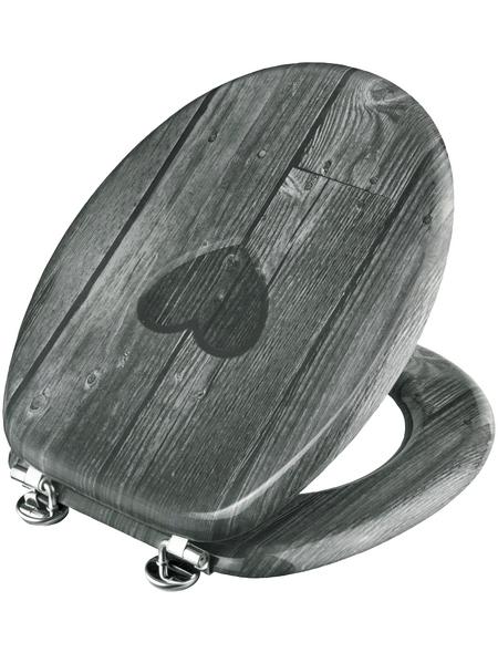 WELLWATER WC-Sitz »HERZ«, Holzkern, D-Form