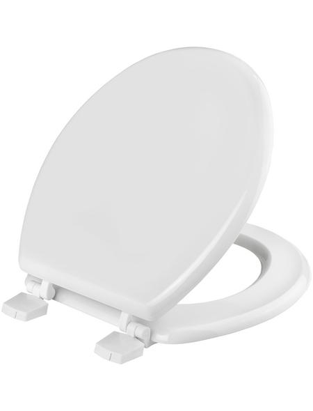 CORNAT WC-Sitz Holzkern,  D-Form