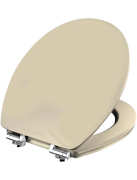 CORNAT WC-Sitz Holzkern,  D-Form mit Softclose-Funktion