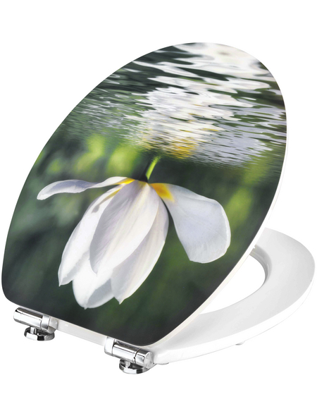 CORNAT WC-Sitz Holzkern,  oval mit Softclose-Funktion