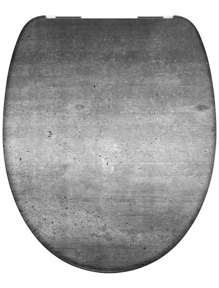 SCHÜTTE WC-Sitz »Industrial Grey« Duroplast,  oval mit Softclose-Funktion