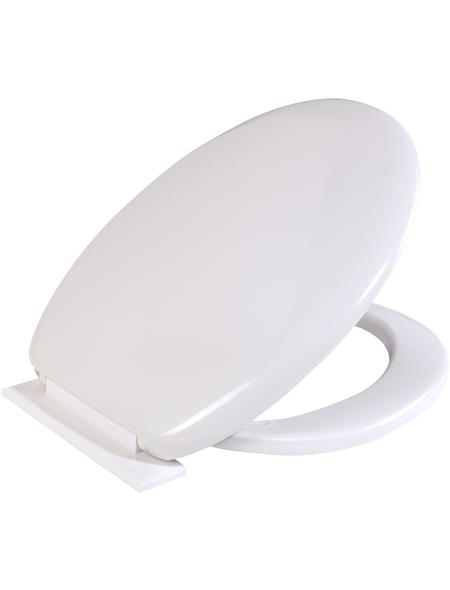 SCHÜTTE WC-Sitz Kunststoff,  oval mit Softclose-Funktion