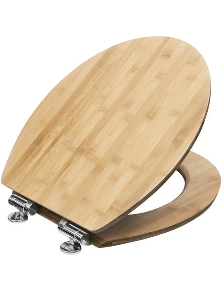 CORNAT WC-Sitz »LIGNA«, Echtholz, oval, mit Softclose-Funktion