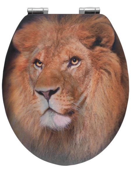 WENKO WC-Sitz »Lion«, MDF, oval, mit Softclose-Funktion