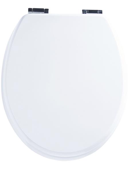 CORNAT WC-Sitz »LYON«, Holzkern, oval mit Softclose-Funktion